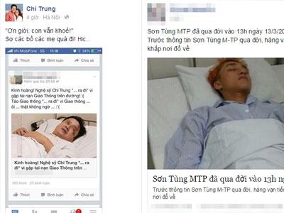 Sơn Tùng M-TP, Chí Trung bị tung tin đồn nhảm đã