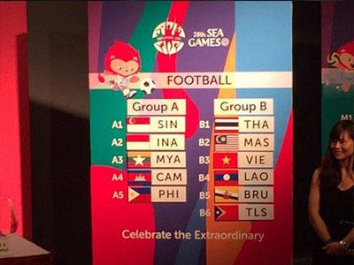 Bốc thăm bóng đá nam SEA Games 28: Việt Nam đối đầu Malaysia, Thái Lan