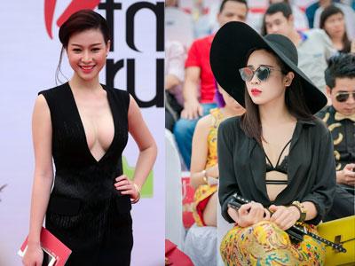 Người đẹp Việt mặc hở bạo đi xem thời trang