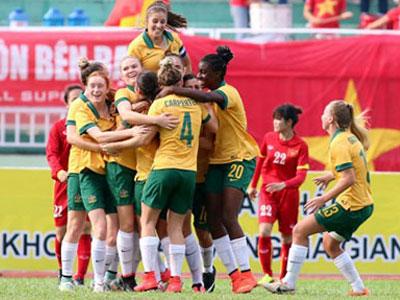 Clip trận nữ Việt Nam thua U-20 Úc 3-4