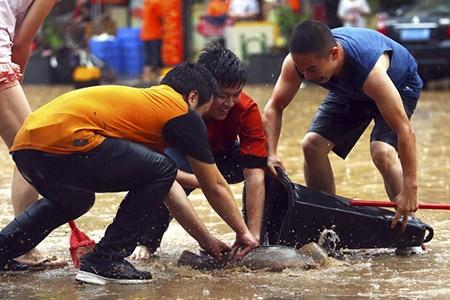 Lũ lụt tại Trung Quốc, ít nhất 57 người thiệt mạng - 1