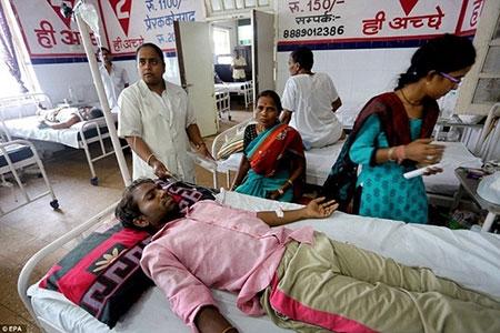 Bệnh viện Ấn Độ quá tải vì nắng nóng