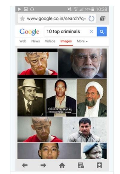 Google xin lỗi vì liệt Thủ tướng Ấn Độ vào tốp tướng cướp