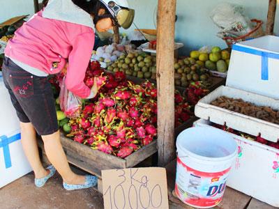 """Trái cây """"rẻ như cho"""" tràn ngập đường phố Sài Gòn"""