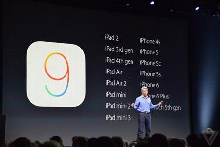 iOS 9 ra mắt, hỗ trợ cả iPhone 4S, iPad mini - 4