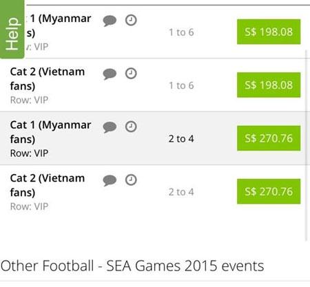 Gần 10 triệu đồng/cặp vé chợ đen trận bán kết U.23 Việt Nam - U.23 Myanmar