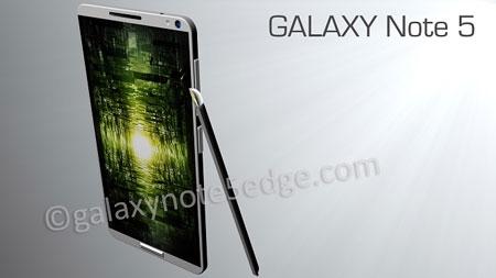 Hé lộ thông số khủng của Galaxy Note 5