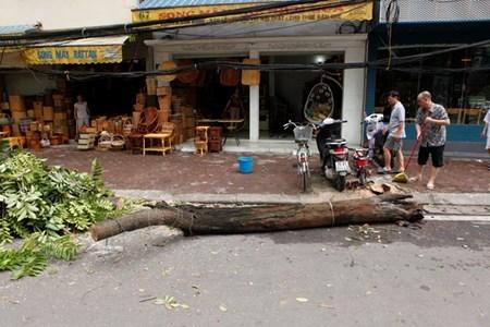 Hà Nội cấm đường, đóng cửa công viên sau trận cuồng phong - 15