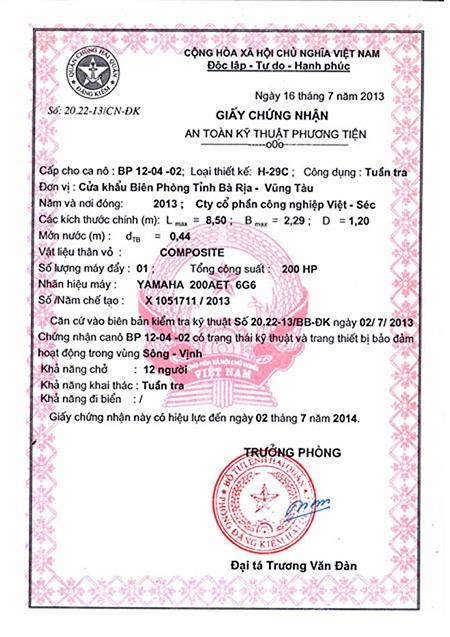 Khởi tố giám đốc Cty Việt - Séc vụ chìm tàu biển Cần Giờ: Viện Kiểm sát hoàn trả hồ sơ cho tòa