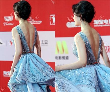 Lưu Diệc Phi diện váy khoét sâu táo bạo bên Song Seung Hun - 3