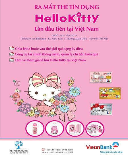 VietinBank chính thức ra mắt thẻ tín dụng Cremium Hello Kitty
