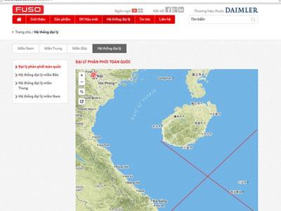 Xe tải Fuso Việt Nam ghi bản đồ