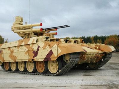 Xe chiến đấu hộ vệ tăng BMPT-72 Nga vô đối