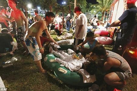 Những hình ảnh sốc về vụ cháy công viên nước khiến hơn 500 người bị thương ở Đài Loan - 15