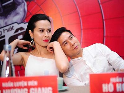 Lưu Hương Giang - Hồ Hoài Anh tình tứ trong họp báo