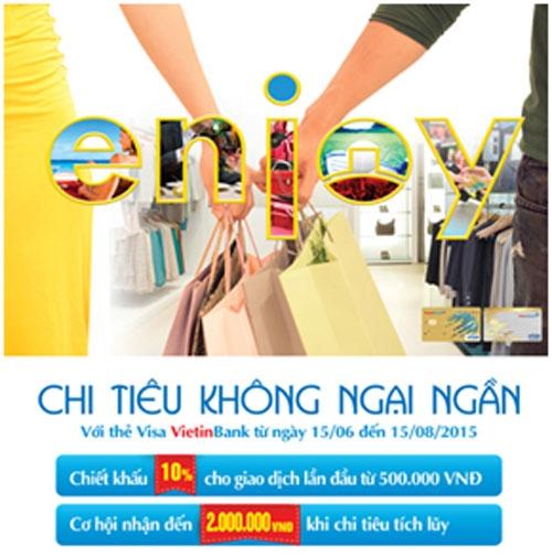 Chi tiêu không ngần ngại với thẻ Visa Vietnbank