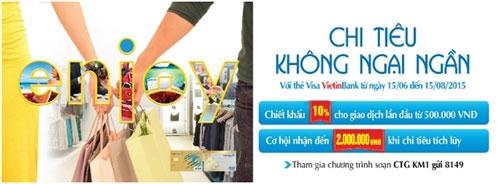 Chi tiêu không ngần ngại với thẻ Visa Vietnbank - 1