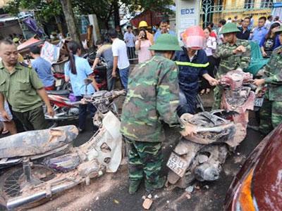 Chùm ảnh: Toàn cảnh hiện trường đổ nát trong vụ nhà sập ở Trần Hưng Đạo