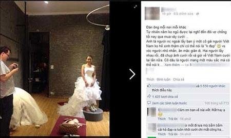 Đưa vợ đi thử váy cưới, chồng Tây 'ăn đứt' chồng Việt?
