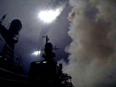 Tên lửa phóng từ tàu chiến Nga bị nghi rơi xuống Iran