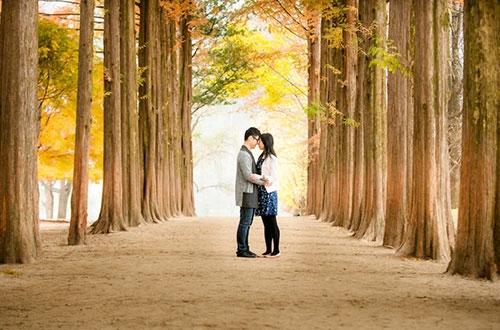 Ảnh cưới đẹp ngất ngây trong mùa thu Hàn Quốc