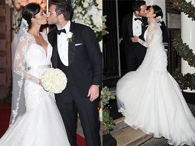 Lampard liên tục hôn vợ trong ngày cưới
