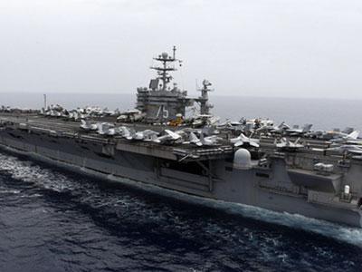 Iran nã rocket gần tàu sân bay Mỹ ở vùng Vịnh