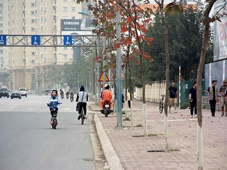 Cột điện bằng cọc tre trên đường nghìn tỷ ở Hà Nội - 12