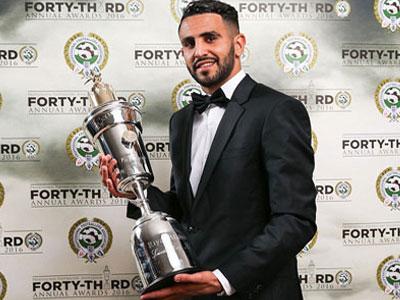 Riyad Mahrez giành danh hiệu Cầu thủ hay nhất năm của PFA