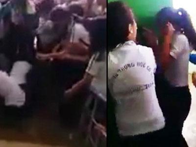 Nữ sinh cấp 2 bị bạn đánh hội đồng dã man ở Đồng Nai