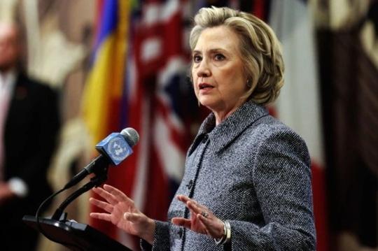 Cựu Ngoại trưởng Mỹ Hillary Clinton. Ảnh: AP