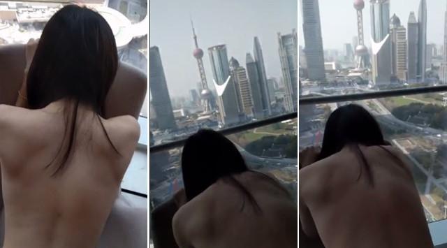 Video nhạy cảm của cặp đôi quay trong khách sạn có view nhìn ra tòa tháp nổi tiếng Thượng Hải lan truyền chóng mặt - Ảnh 1.
