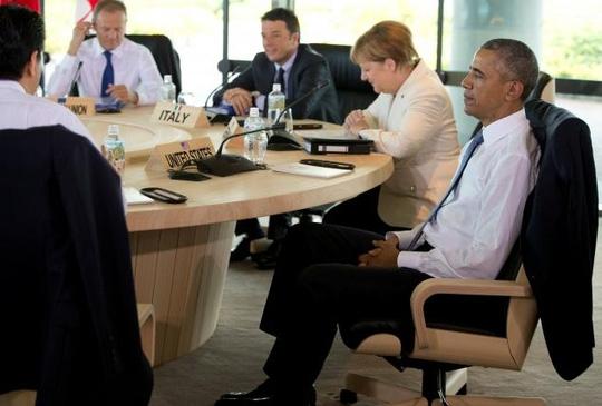 Tổng thống Mỹ Obama tham dự hội nghị G7 sau khi kết thúc chuyến thăm 3 ngày tại Việt Nam. Ảnh: Reuters