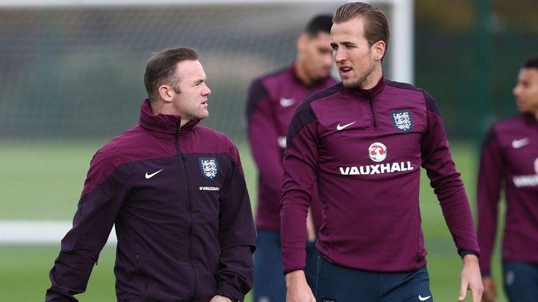 Rooney và Kane của đội tuyển Anh