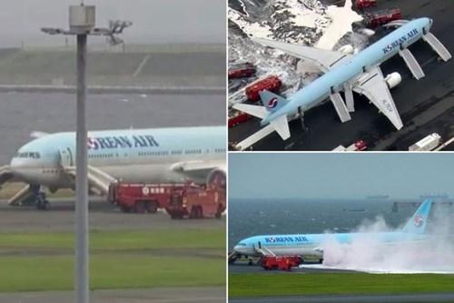 Máy bay chở 319 người bốc cháy trước khi cất cánh - ảnh 1