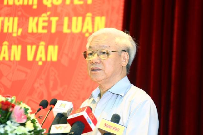 Tổng Bí thư Nguyễn Phú Trọng nhắc lại bài học sâu sắc Nguyễn Trãi đã rút ra thuyền bị lật mới biết sức dân mạnh như sức nước.