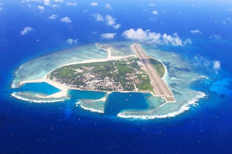 Đảo Phú Lâm thuộc quần đảo Hoàng Sa của Việt Nam đang bị Trung Quốc chiếm đóng trái phép. Ảnh: Amusingplanet.com
