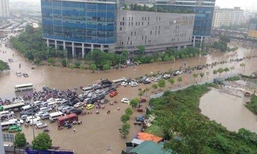 Keangnam Landmark Tower, Keangnam Hà Nội, tòa nhà cao nhất Việt Nam, Keangnam ngập nước, nước ngập hà nội