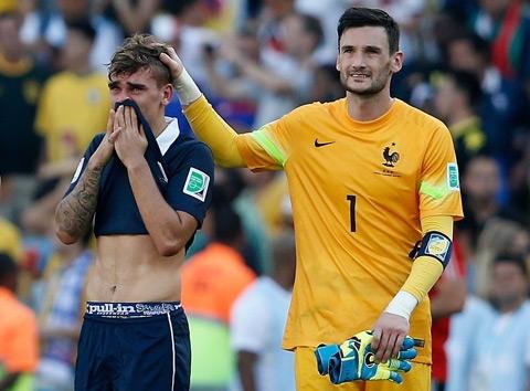 Nước mắt của Griezmann khi tuyển Pháp bị loại khỏi World Cup 2014