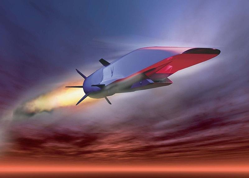 Đồ họa tên lửa siêu thanh X-51 của Mỹ. Ảnh: DARPA