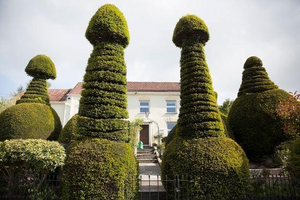 """Biệt thự có hàng rào cây hình """"của quý"""" khổng lồ ở Anh - 1"""