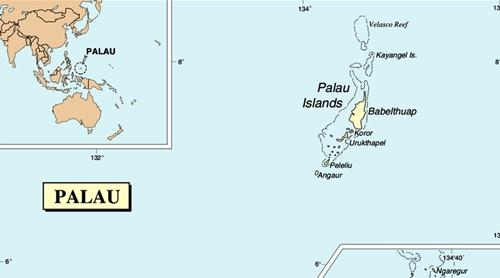 Vị trí Palau. Đồ họa:Wiki Commons.