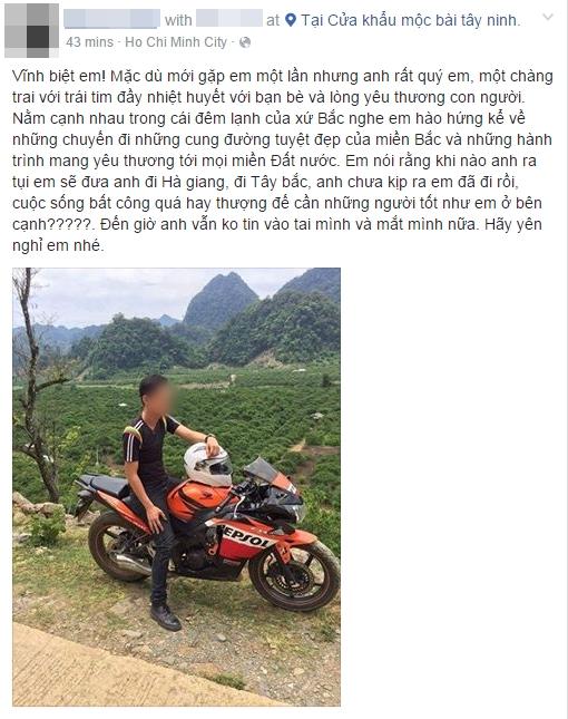 Hà Nội: Bạn bè tiếc thương nam phượt thủ 25 tuổi ra đi vì tai nạn giao thông - Ảnh 4.