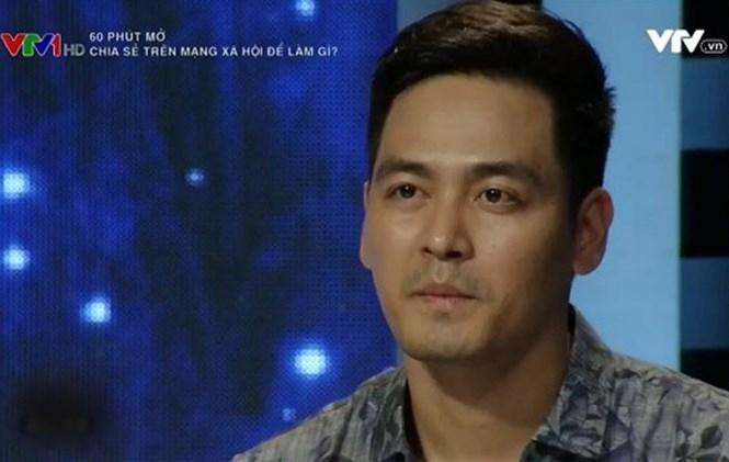 Phan Anh trong chương trình '60 phút mở: Chia sẻ trên mạng xã hội để làm gì' /// Ảnh chụp màn hình