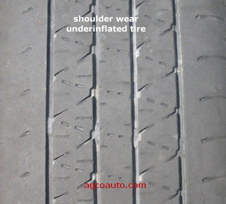 Lốp quá non, mòn 2 má lốp. Ảnh minh họa. Nguồn: internet.