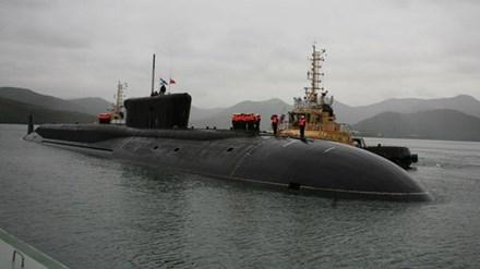 Một tàu ngầm lớp Borei của Nga. (Ảnh: Sputnik)