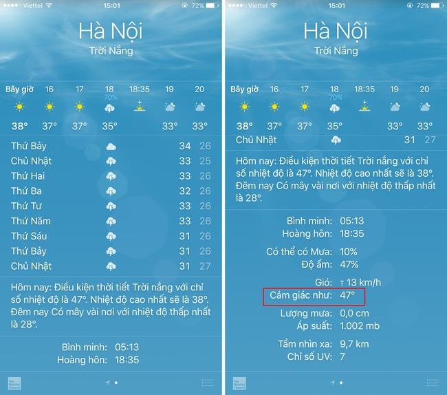 Nhiệt độ ngoài trời Hà Nội thực tế là gần 50 độ cơ, nhìn đây này! - Ảnh 1.