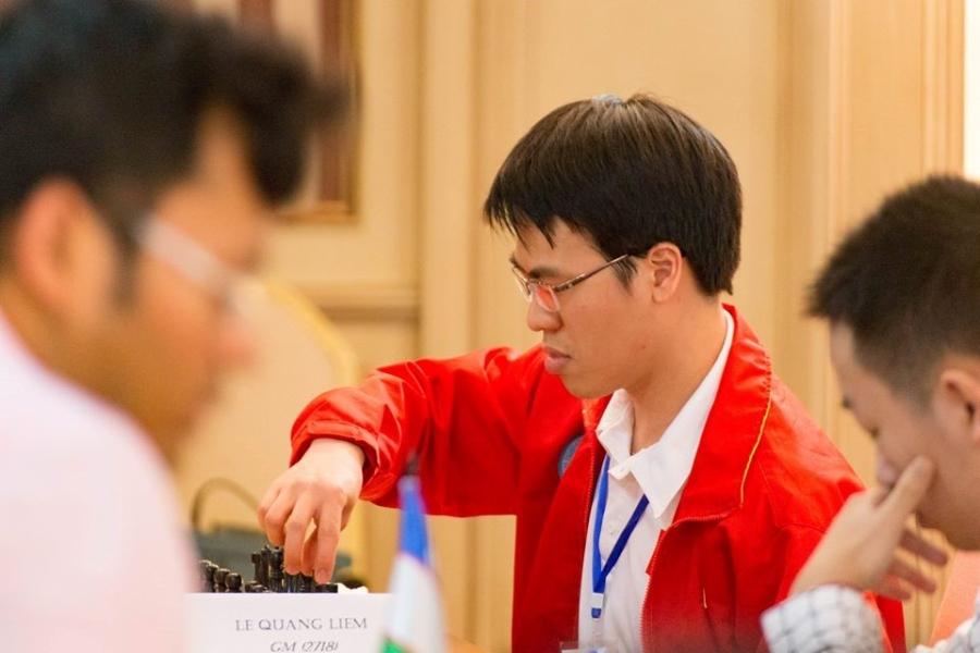 Lê Quang Liêm thi đấu không quá thành công dù là hạt giống số một của giải. Ảnh: Lâm Minh Châu