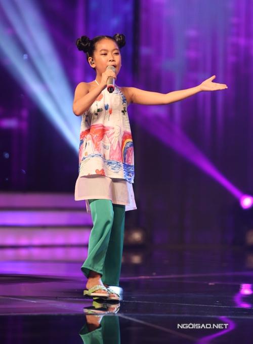 Diệp Nhi, cô bé lí lắc chọn ca khúc Quê tôi của Hoàng Anh Minh