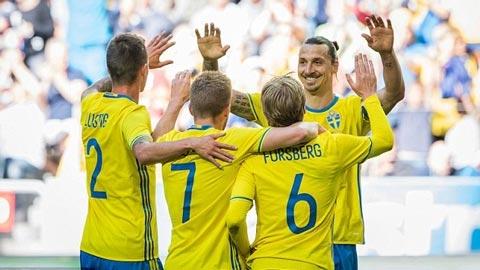 Ibra giúp Thụy Điển vùi dập xứ Wales, Bỉ thắng nhọc Na Uy